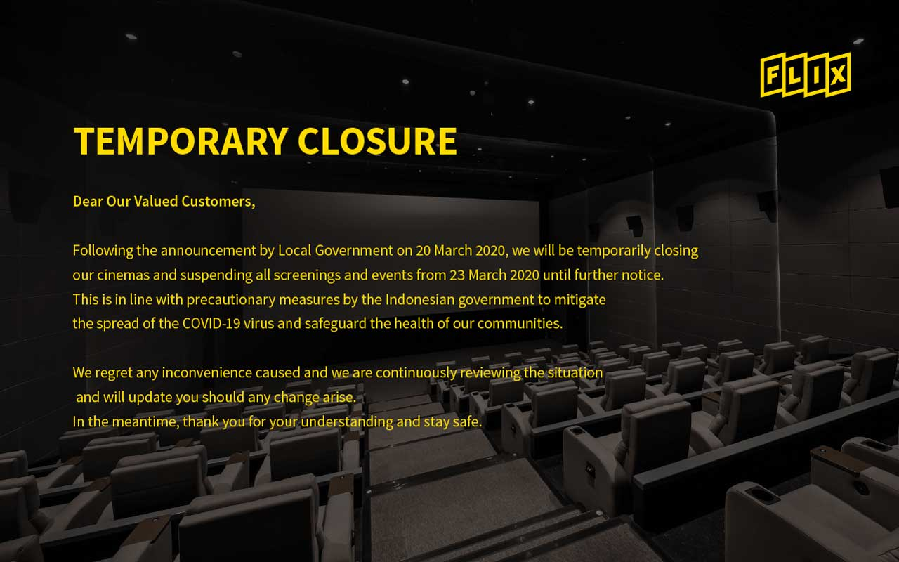 FLIX GGP Temporary Closure