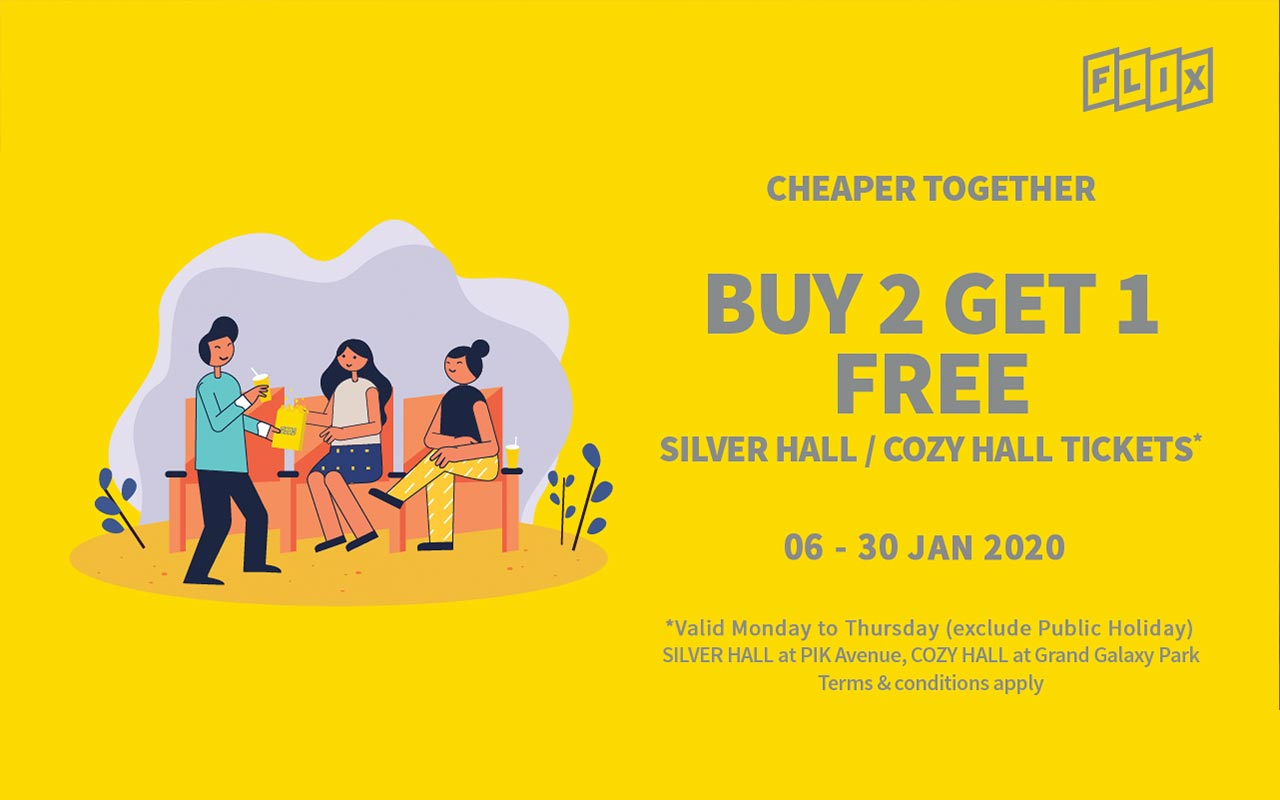 Cheaper Together, Buy 2 Get 1 Free
